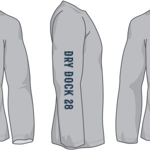 Long Sleeve Sports Grey Sleeve Dry Dock 28 OCMD